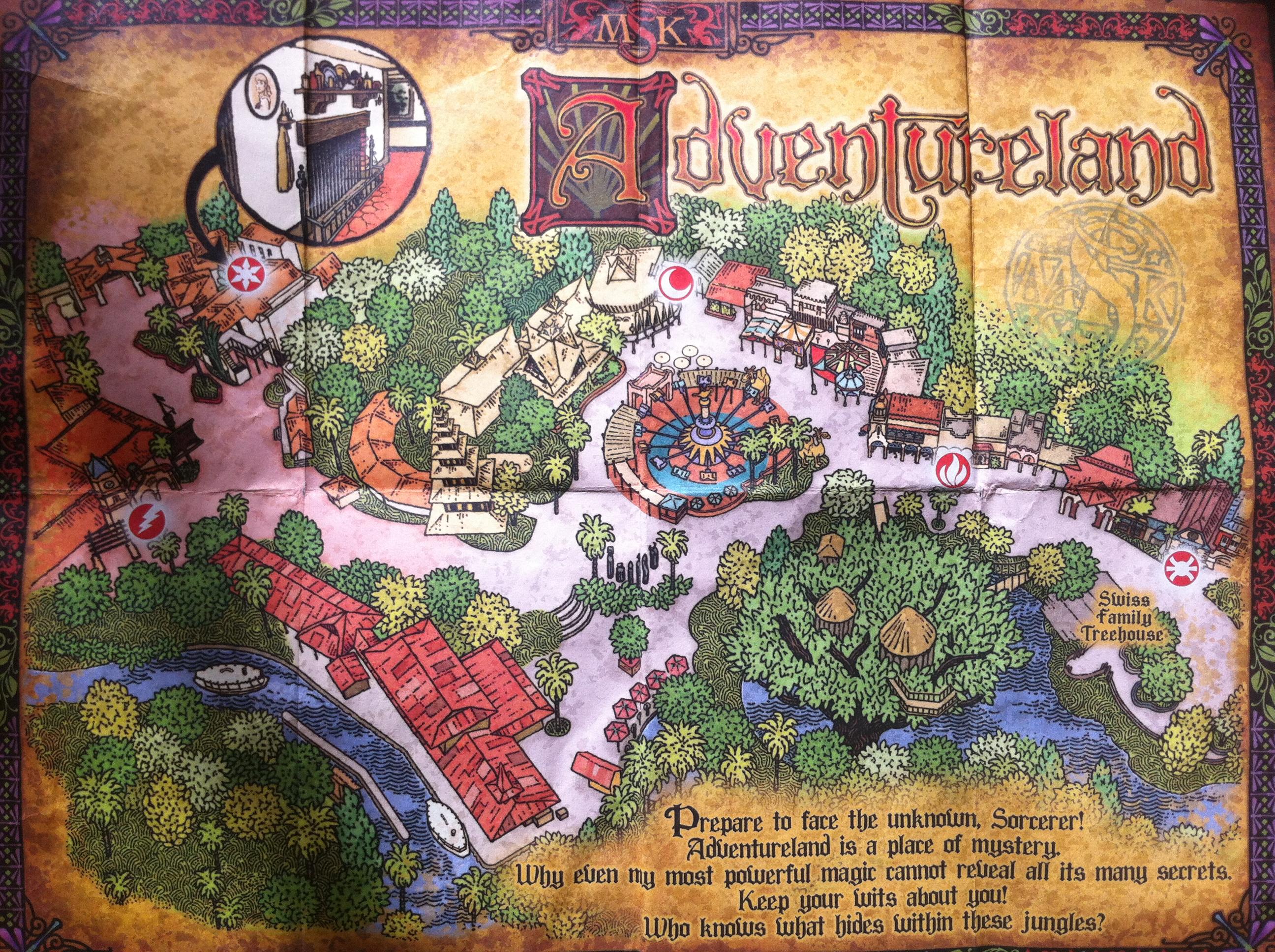Magic Kingdom Adventureland Map 2013 Sorcerers of the magic kingdom