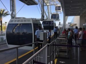 The boarding platform for the Orlando Eye.