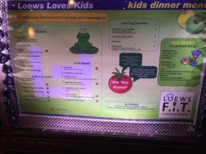 Islands Dining Room's kids' menu